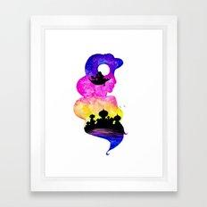 Jasmine Double Exposure Framed Art Print