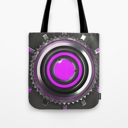 Honeycomb pattern of concentric metal shapes Tote Bag
