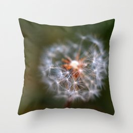 Wishes, Dandelion Seeds  Throw Pillow