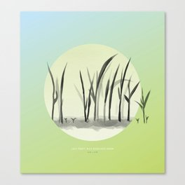 [4.25—4.29] Last Frost, Rice Seedlings Grow Canvas Print