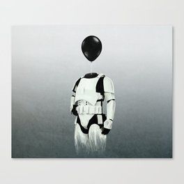 The Stormtrooper - #2 in the Balloon Head Series Canvas Print