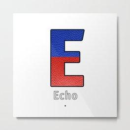 Echo - Navy Code Metal Print