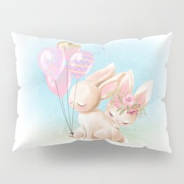 Lovey Dovey Easter Bunnies Pillow Sham