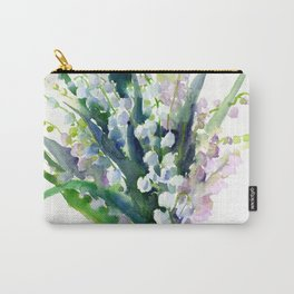Lilies of the Valley, spring floral design flowers sring design wood flowers Carry-All Pouch