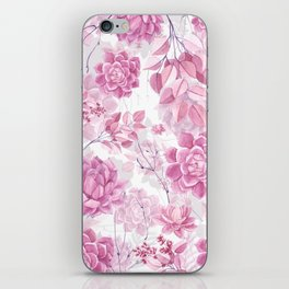 PINK SUCCULENTS #society6 iPhone Skin