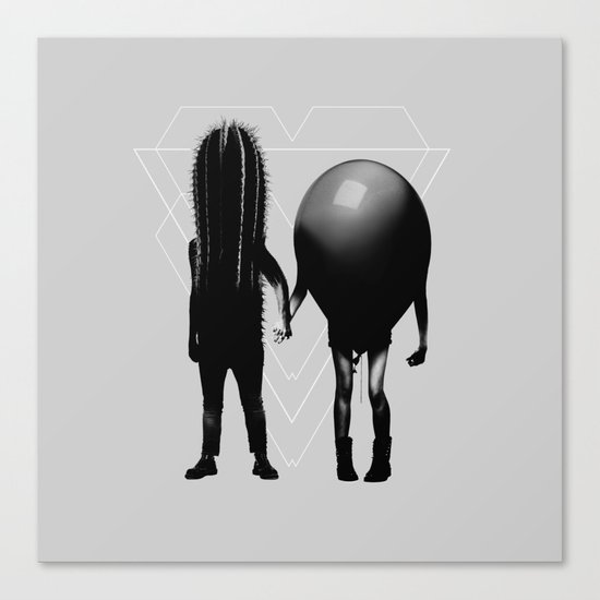 Couple B&W Canvas Print
