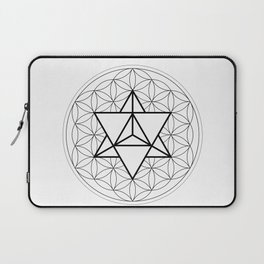 Sun Tetrahedron on Flower of Life Laptop Sleeve