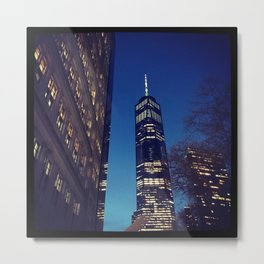 New York City at Dusk Metal Print