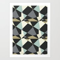geo Art Prints featuring Geo by SarahFlemingDesigns