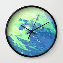 Blue & Green, No. 3 Wall Clock