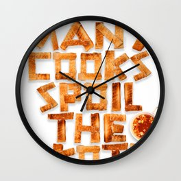 Too many cooks spoil the broth Wall Clock