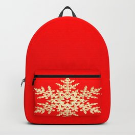 Snowflake in a Red Field Backpack