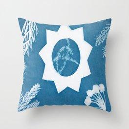 Sunprint - 9 Pointed Star Throw Pillow