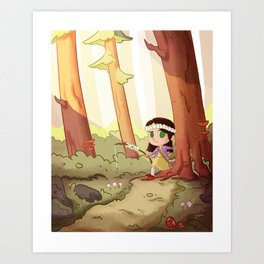 Forest Walk Art Print
