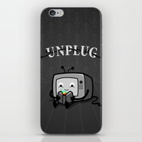 literary iPhone & iPod Skins featuring Unplug by littleclyde