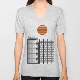 City in construction Unisex V-Neck