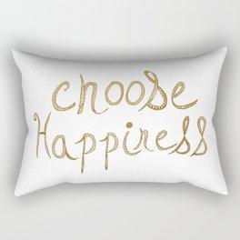 Choose Happiness Gold Edition Rectangular Pillow