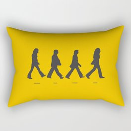 Abbey Road - Yellow Rectangular Pillow