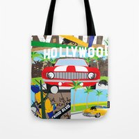 hollywood Tote Bags featuring Hollywood by Laia Kaie
