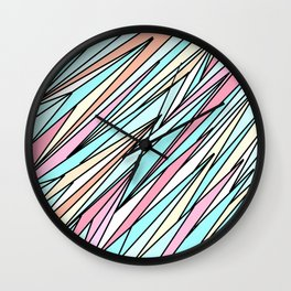 Colourful abstract Artwork 7 - doodling style Wall Clock