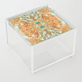 Humming Bird Orange Acrylic Box