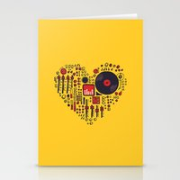 Stationery Cards featuring Music in every heartbeat by Picomodi