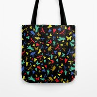 insects Tote Bags featuring Insects by Nabaa Baqir