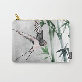 Japanese swallow and bamboo Carry-All Pouch