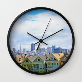 Painted Ladies of Alamo Square Wall Clock