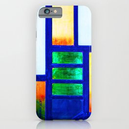Art Deco Colorful Stained Glass iPhone Case
