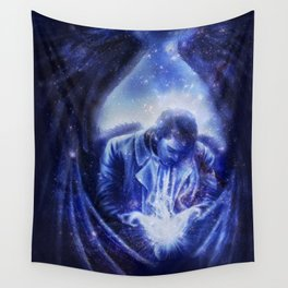 Angel in Blue Wall Tapestry