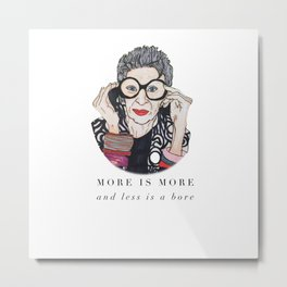 Iris Apfel Illustration  Metal Print