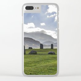 Castlerigg Stone Circle. Clear iPhone Case