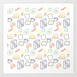 Breakfast Baby! Art Print