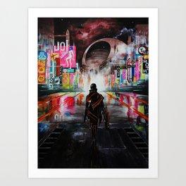 Blade Runner X Tron Art Print