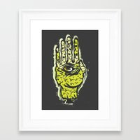 zombie Framed Art Prints featuring Zombie by Mila Spasova