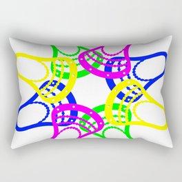 Lacrosse Neon Heads Rectangular Pillow