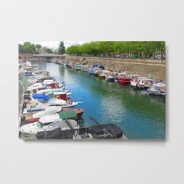 Boats in Paris Metal Print