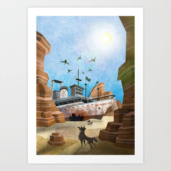 Desert Boat VACANCY zine Art Print