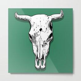 Longhorn skull Metal Print