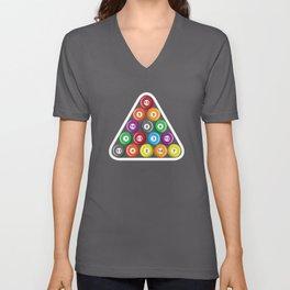 Billiards Pool Hall Sport Balls T-Shirts Unisex V-Neck