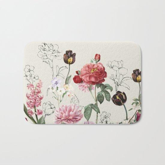 Flowers illustraion Bath Mat