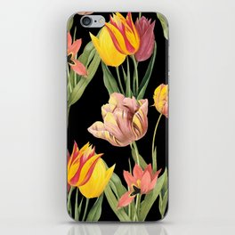 Vintage Floral Pattern   No. 3A   Tulips iPhone Skin