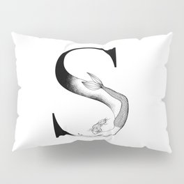 Mermaid Alphabet - S Pillow Sham