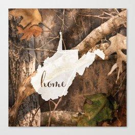 West Virginia is Home - Camo Canvas Print