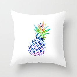 Rainbow Pineapple Throw Pillow