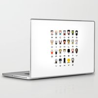 movies Laptop & iPad Skins featuring Horror Movies Alphabet by PixelPower