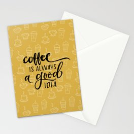Coffee pattern Stationery Cards