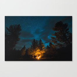 Camp is Where the Light Is Canvas Print
