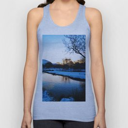 Blarmacfoldach, Scotland in the snow Unisex Tank Top